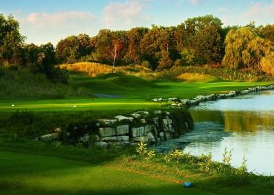 Blackwolf Run River Golf Course Hole 4 Swan Lake Tee