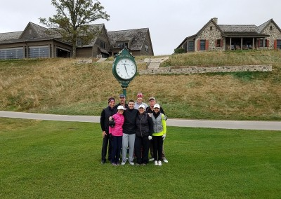 EHGE 2017 Erin Hills Hole 1 Starter Clock Pic 2