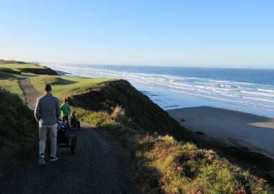 Pacific Dunes Hole 4 Tee Coastline