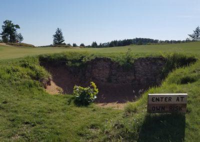 Sand Valley Resort Mammoth Dunes Golf Course Hole 7 Settlement Bunker