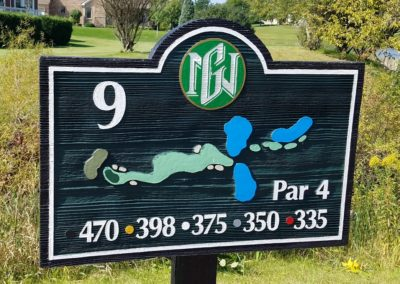 Geneva National Golf Resort Palmer Course Hole 9 Sign