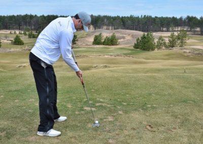 Sand Valley Golf Resort Sandbox Hole 1 Tee Jason Putter