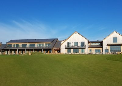 Sand Valley Resort Mammoth Dunes Golf Course Hole 1 Clubhouse View