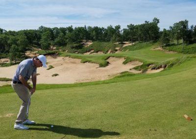 Sand Valley Resort Mammoth Dunes Golf Course Hole 13 Par 3 Tee Jeffrey B