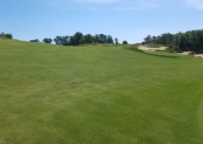 Sand Valley Resort Mammoth Dunes Golf Course Hole 14 Green View Fairway Slope