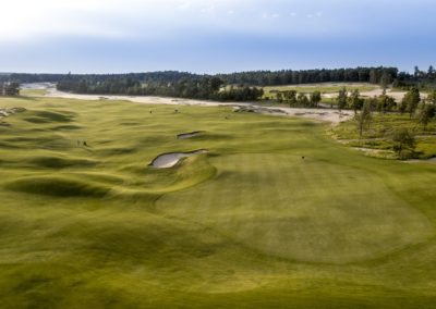 Sand Valley Resort Mammoth Dunes Golf Course Hole 17 Green View STOCK