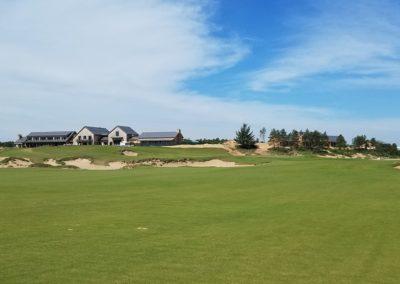 Sand Valley Resort Mammoth Dunes Golf Course Hole 18 Second Shot