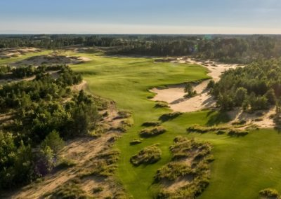 Sand Valley Resort Mammoth Dunes Golf Course Hole 5 Aerial STOCK