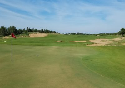 Sand Valley Resort Mammoth Dunes Golf Course Hole 7 Green View