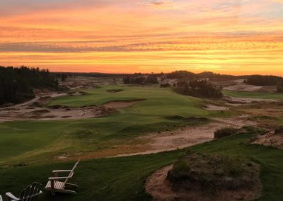 Sand Valley Resort Sand Valley Course Hole 10 Sunset STOCK