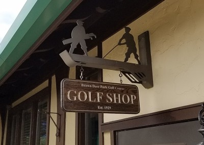 Brown Deer Golf Course Clubhouse Sign