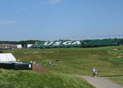 Erin Hills Golf Course 2017 U.S. Open Hole 18 Grandstands