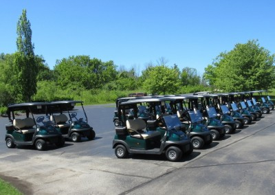 The Bog Golf Course Cart Staging