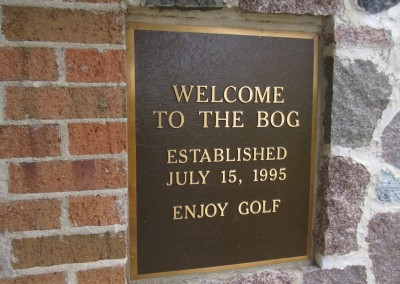 The Bog Golf Course Clubhouse Sign