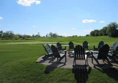 The Bog Golf Course Hole 18 Firepit View