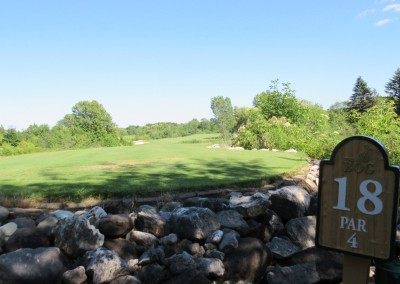 The Bog Golf Course Hole 18 Sign