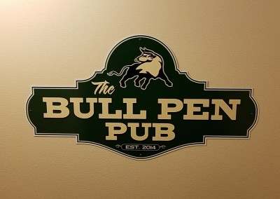 The Bull at Pinehurst Farms Clubhouse Bull Pen Sign