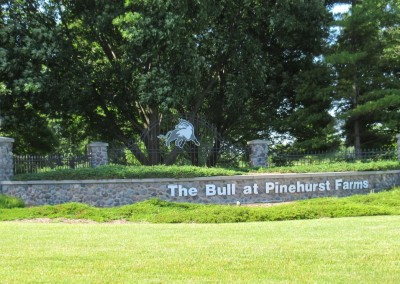 The Bull at Pinehurst Farms Entrance Sign