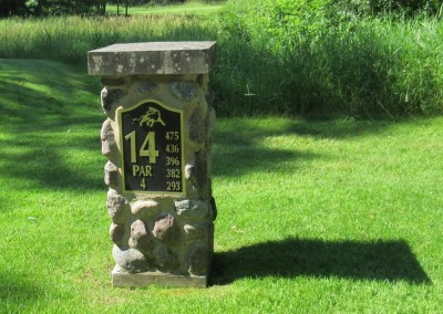 The Bull at Pinehurst Farms Hole 14 Sign