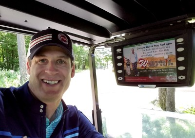 The Bull at Pinehurst Farms Hole 5 Cart Ad Selfie