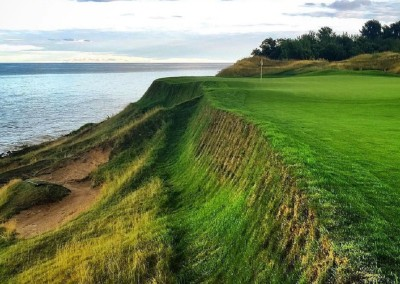 Whistling Straits Straits Course Hole 17 Pinched Nerve Bunkers