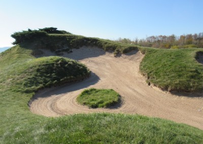 Whistling Straits - Straits Course Hole 2 Cross Country Massive Bunker