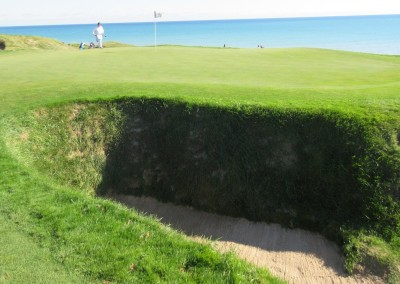 Whistling Straits - Straits Course Hole 6 Gremlin's Ear Greenside Bunker 2