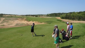 Sand Valley Golf Resort Hole 1 Tee Group