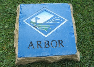 Trappers Turn Golf Club Arbor Hole 3 Tee Marker
