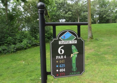 Trappers Turn Golf Club Arbor Hole 6 Tee Sign