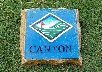 Trappers Turn Golf Club Canyon Hole 9 Tee Marker