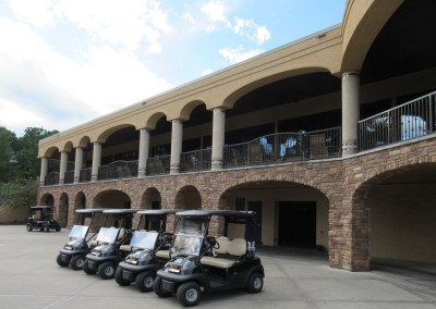 Trappers Turn Golf Club Cart Staging