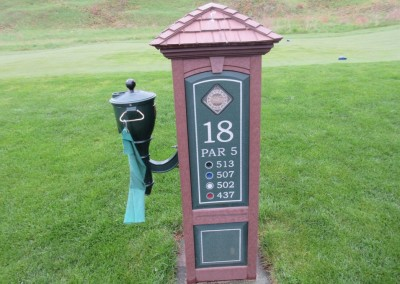 Coldwater Canyon Golf Course Hole 18 Sign