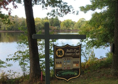Bull's Eye Country Club Hole 18 Sign
