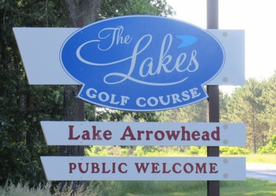 Lake Arrowhead Golf Course - Lakes Course - Sign