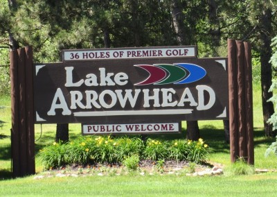 Lake Arrowhead Golf Course Sign