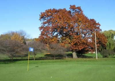 Naga-Waukee Golf Course Hole 14 Green Fall Colors