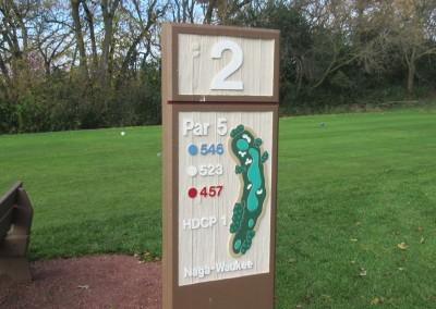 Naga-Waukee Golf Course Hole 2 Sign