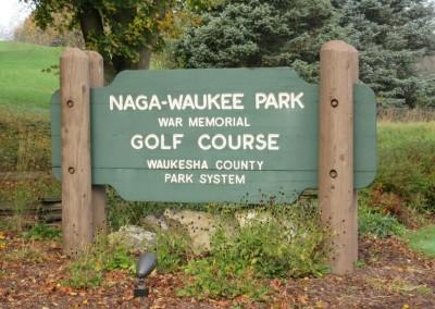 Naga-Waukee Golf Course Sign