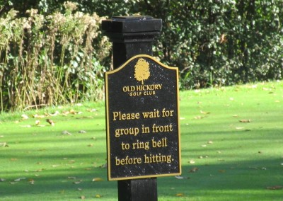 Old Hickory Golf Club Hole 14 Sign