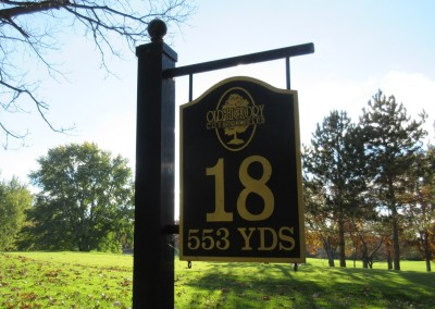 Old Hickory Golf Club Hole 18 Sign