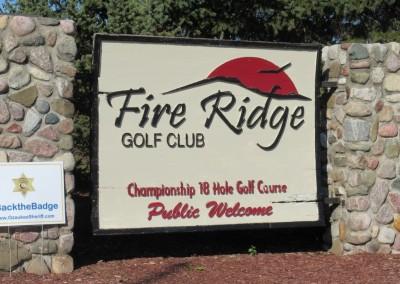 Fire Ridge Golf Club Sign