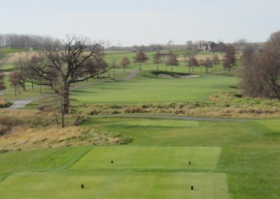 The Oaks Golf Course Hole 1 Tee Elevated View