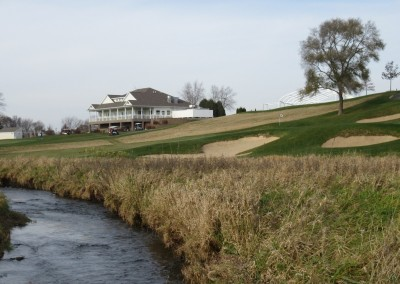 The Oaks Golf Course Hole 18 Clubhouse View River