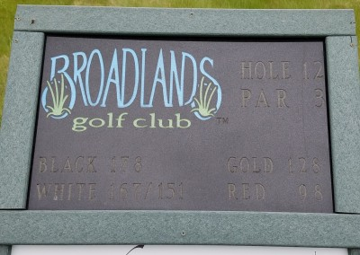 Broadlands Golf Club Hole 11 Sign