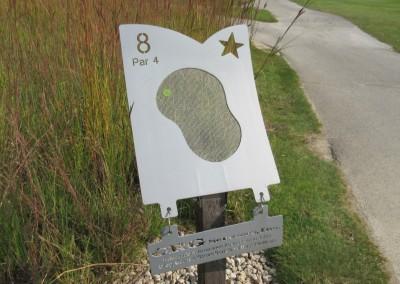 Morningstar Golfers Club Hole 8 Sign