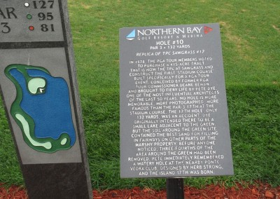 Northern Bay Castle Course Hole 10 Replica Sign