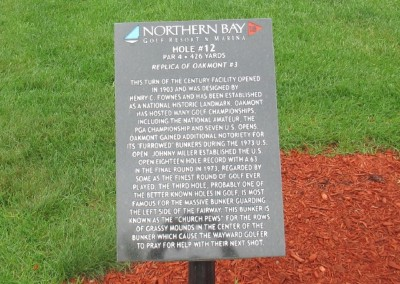 Northern Bay Castle Course Hole 12 Replica Sign