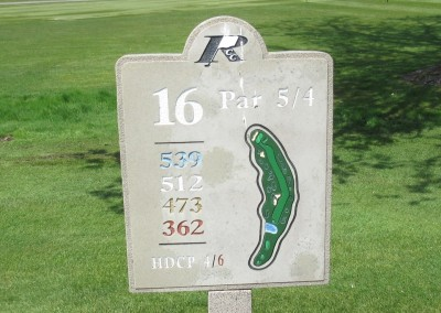 Reedsburg Country Club Hole 16 Sign