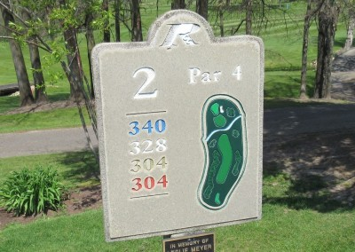 Reedsburg Country Club Hole 2 Sign